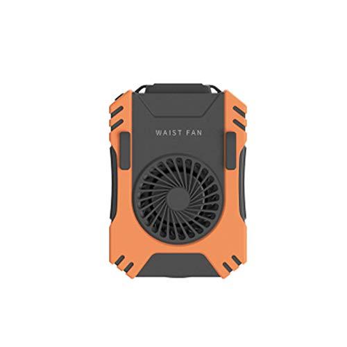 YOGANHJAT Mini Ventilador de Cintura portátil, Ventilador de Mano Recargable USB 5000 mAh Ventiladores de Cuello con Pilas personales pequeños 3 velocidades para Acampar Pesca Ciclismo