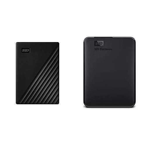 WD 2TB My Passport Portable External Hard Drive, Black - WDBYVG0020BBK-WESN & 2TB WD Elements Portable External Hard Drive, USB 3.0 - WDBU6Y0020BBK-WESN