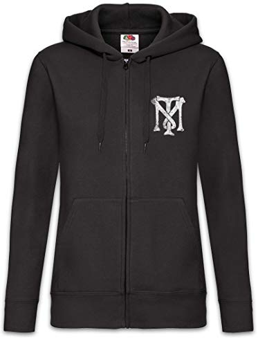 Urban Backwoods Tony Montana TM Logo Femme Zip Hoodie Sweat à Capuche Noir Taille S