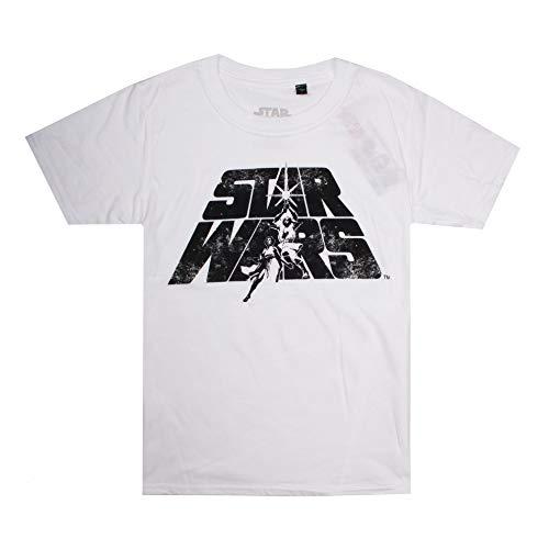 Star Wars Jungen Luke & Leia T-Shirt, Weiß (White White), 9-10 Jahre