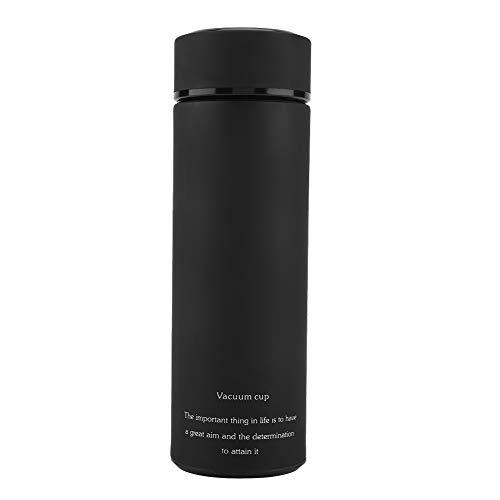 Aoutecen Vasos Termo de Acero Inoxidable con Botella de vacío, Vasos térmicos cómodos, Seguros para el Trabajo en casa(Black, 350ML)