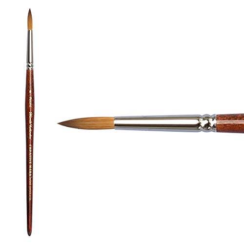 Creative Mark Mimik Kolinsky Professional Artist Synthetic Sable Short Handled Brush- Round #8