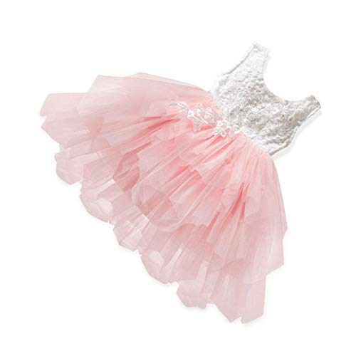 Floridivy Baby Girl Sleeveless Bubble Rok feestjurk, baby bubble jurk Peuters Backless Party Costume Kids Princess Dress