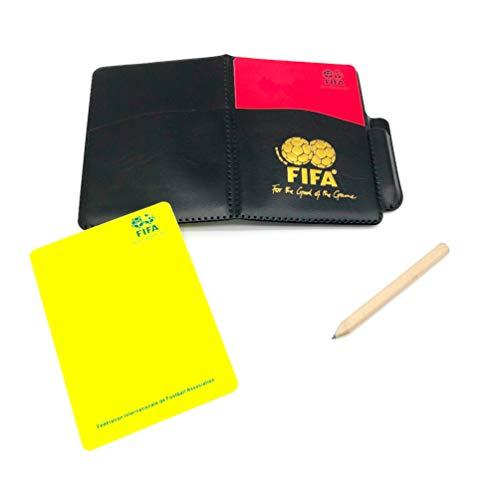 D-Work - Taccuino in arbitrato con cartelle, colore: Rosso e Giallo + Custodia per riporre oggetti speciali