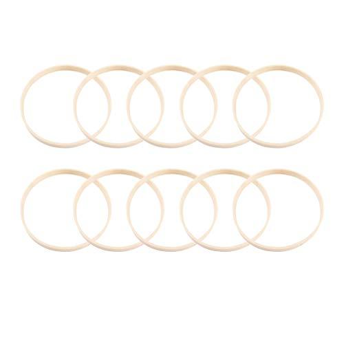 NUOBESTY traumfänger Ringe DIY Handwerk Bambus Hoop Handwerk Materialien 12 stück