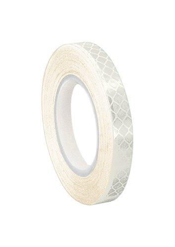 TapeCase 1/4-5-3430 weiße Mikro-Prismatikfolie reflektierendes Klebeband, umgewandelt von 3M 3430, 0,6 cm x 1,5 m