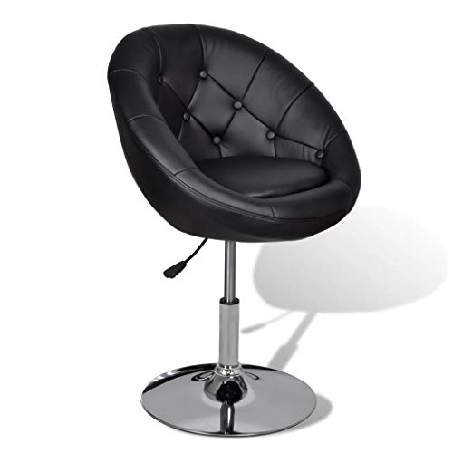 vidaXL Barhocker Chesterfield Lounge Sessel Bar Stuhl Drehsessel Hocker Barstühle schwarz