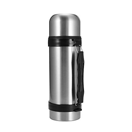 Nullnet Termo de vacío, termo de acero inoxidable de 1200 ml, termo de jarra térmica, botellas de agua caliente reutilizables con taza para el hogar y viajes/senderismo/camping