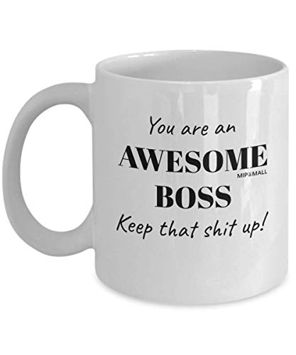 Awesome Boss Mugs Cup - Funny Leaving Gifts for Colleagues Boss Friend Men...