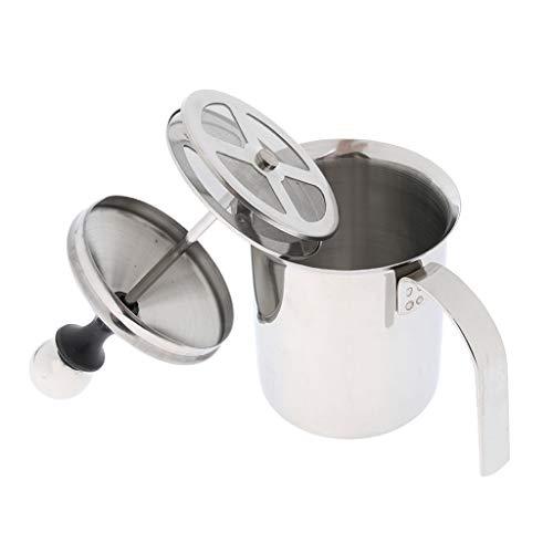 Montalatte Produzione Schiuma Latte Caffe Froth a Doppia Parete Vassoio Utensili Cucina Caffettiera - 400ml