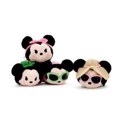 Minnie Mouse Dress Up Ensemble de Peluche Tsum Tsum Mini Original, Disney Officiel