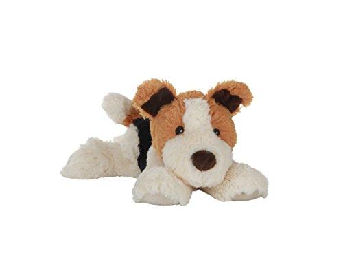 Habibi Plush Classic – 1627 Hund Terrier mit Hirsekörnerfüllung, Wärmestofftier zum Erwärmen in der Mikrowelle/Backofen