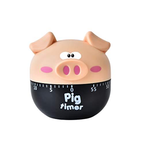 UPKOCH Eieruhren Küchentimer Mechanisch Niedliche Schwein Form Countdown Timer Backen Küchenbedarf Küchenhelfer
