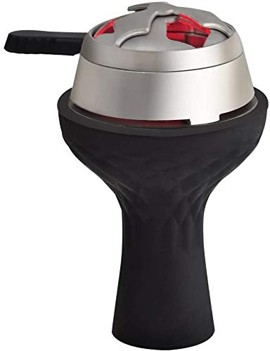 Oiangi Hookah Bowl - Silicone 7Hole Phunnel Bowl - Black Shisha Bowl - High Temperature Resistance