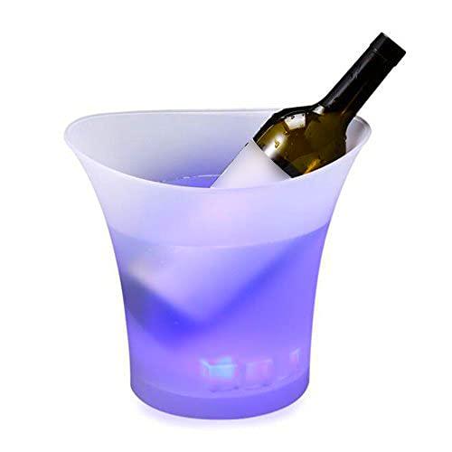 Smad Multicolor LED Luminous Ice Bucket - für Champagner Wein Bier Getränke - für Bar Party Nightclub Karaoke 5L 1St