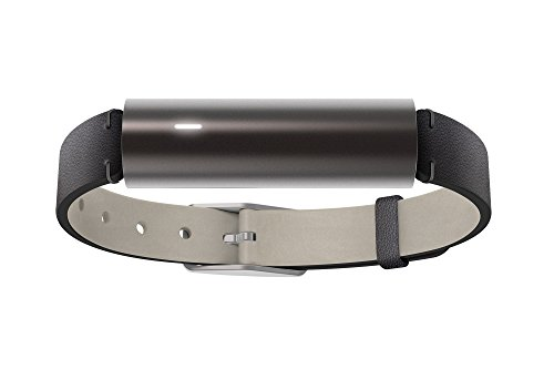 Misfit Fitness und Sleep Tracker mit Leather Band, Carbon Black, S515BM0BD