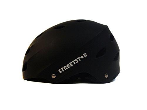 Streetstar Helm S schwarz/matt für Waveboard, Skateboard, BMX,