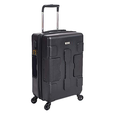 TACH V3 Hard Shell Carry On Luggage 22x14x9 | Carry on Luggage with Spinner Wheels & Patented Built-in Connecting System | One Piece Rolling Suitcase Links 6 Bags at Once - in Black