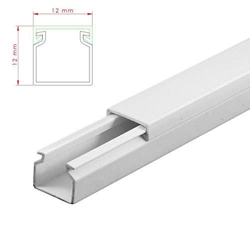 SCOS Smartcosat AVC-001 3m Kabelkanal Weiß Selbstklebend 3X 100cm 12x12mm Deckenkanal bestehend aus Unterteil und Oberteil zur Montage direkt auf der Wand