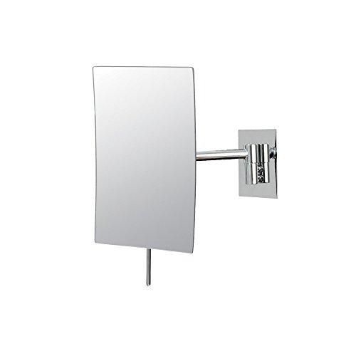Mirror Image 21843 Minimalist Rectangular Wall Mirror, 3X Magnification, -