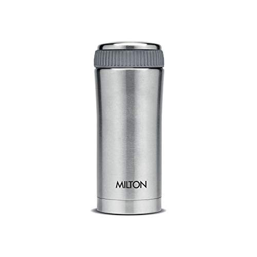 Milton Optima 350 Thermosteel Hot and Cold Flask, 350 ml, Silver