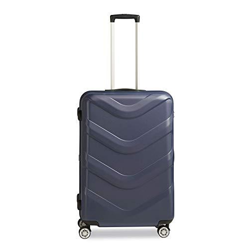 STRATIC Arrow 2 Hartschalen-Koffer Trolley Reisekoffer Rollkoffer 4 Rollen TSA-Zahlenschloss, Größe L, Blue