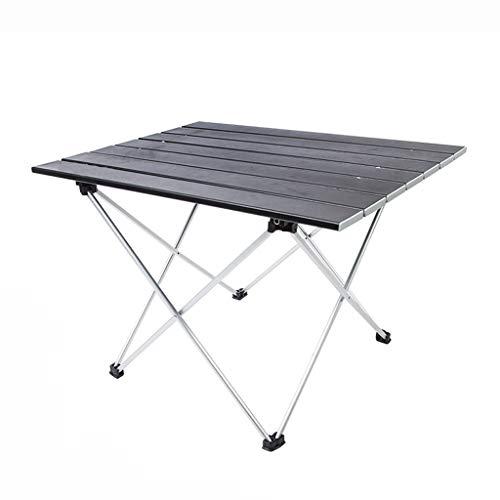 Qiuoorsqurp Leicht, einfach zu falten, quadratischen Tisch überall hin mitnehmen, Camping, Angeln im Freien Aluminium faltbare tragbare ultraleichte Picknicktisch Platz Camping einfachen Klapptisch, S