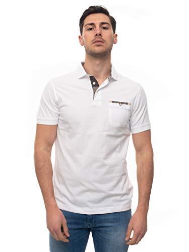 Barbour Polo Kurzarm BAP0L0261 Weiß Baumwolle Herren, Weiß Medium