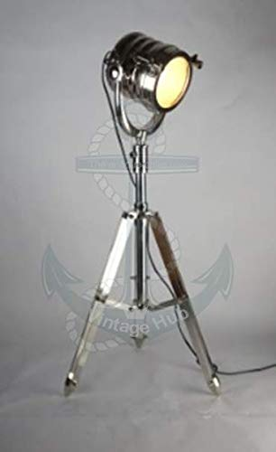 Vintage Hub Collectible Search Light/Spot Light Tripod Floor Lamp Industrial Spot Light