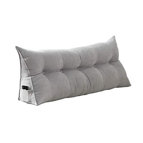 Z-Life Schlafsofa Großes Dreieckiges Keilkissen Schlafzimmer Doppelbett Rückenlehne Lesekopfteil Gepolsterte Lordosenstütze (Color : Gray, Size : 60x20x50cm)