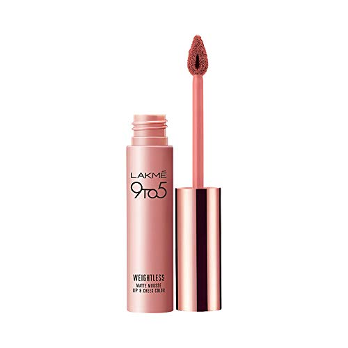 Lakme 9 to 5 Weightless Mousse Lip & Cheek Color,...