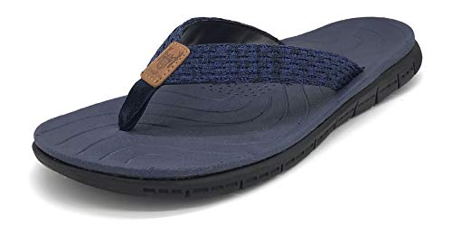 KuaiLu Flip Flops Damen Weich Leder Stoff Badelatschen Yoga Matte Fußbett Sandalen Sommer Strand Zehentrenner rutschfest Badesandalen Frauen