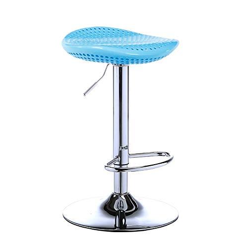VOVOVO barstol höjdställbar barstol, justerbar vridstol, plast stora säten i halvmånad, 360° vridbar kökshock med fotstöd för köksö-bardisk