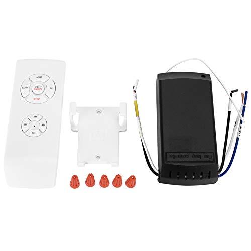 Kit de Control Remoto Interruptor Inteligente inalámbrico de 3 velocidades para Controlador de luz de Ventilador de Techo Aprox. 115 x 53 mm/4,5 x 2,1 Pulgadas