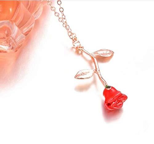 Damen-Halskette mit Rosenanhänger