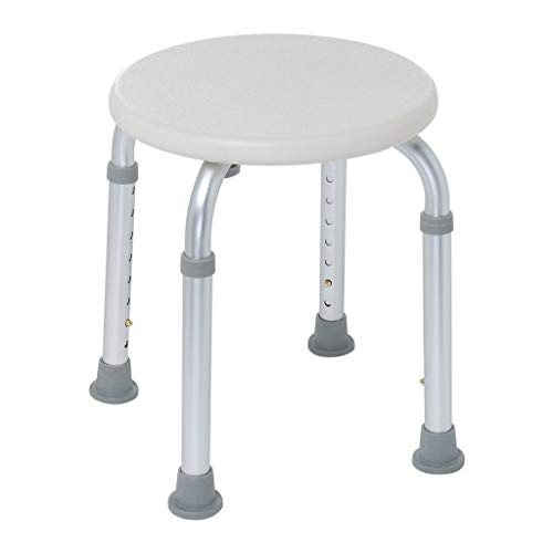 Bath Chair, Seat Non-Slip Bathroom Chair Adjustable Height Medical Tool Assembly Spa Bathtub Shower Chair Shower Stool for Elderly Pregnant Handicap lkoezi (A, Silver)