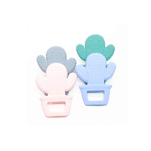 Best Prices! Cactus Silicone Baby Teether Teething Necklace Pendant Soft Silicone Beads BPA Free Che...