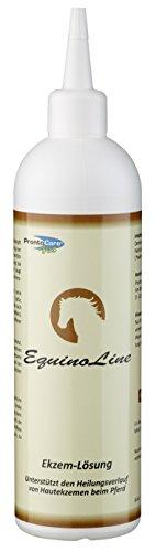 Equinoline Ekzem-Lösung 250ml | Ideale Pflege für Sommerekzeme bei Pferden | beschleunigt die Abheilung | vermindert den Juckreiz | beugt Infektionen wirkungsvoll vor