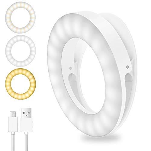 XINGHE Selfie Light, 40 LED Aro de Luz para Móvil Flash Anillo...