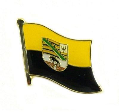 Flaggen Pin Sachsen Anhalt Anstecknadel Fahne Flagge FLAGGENMAE®