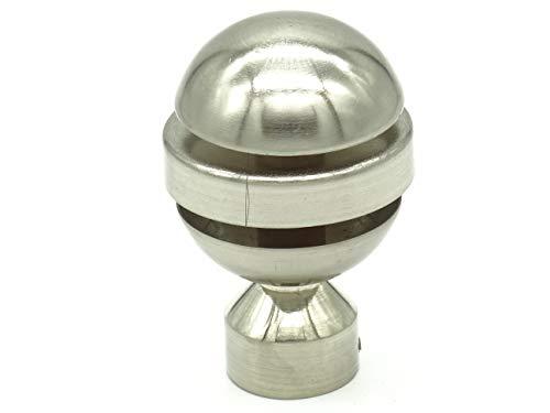 metablo Endstück Kugel edelstahloptik für Gardinenstangen 25mm Durchmesser