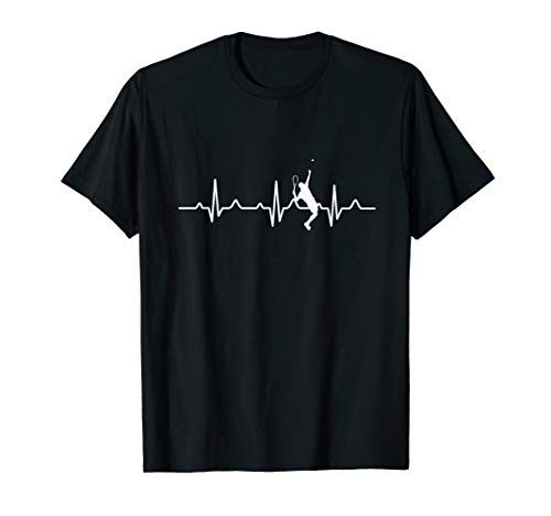 Herzschlag Tennisspieler Tennischläger Tennis Geschenk T-Shirt