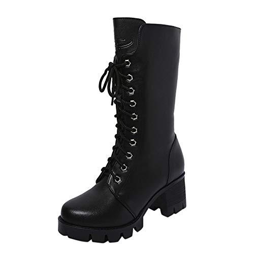 ZARLLE_Botas Zapatos Mujer Botines de Mujer 2019 Botas para Mujer Invierno de Vestir Botas con cuña Mujer Invierno Botas De Plataforma Zapatos De TacóN Botines niña Vestir Botines De Cuero