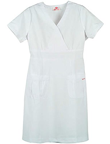 White Cross Marvella Women's A-Line Scrub Dress Small White