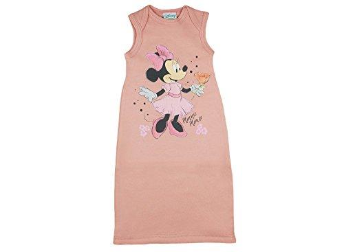 Disney - Minnie Mouse Baby- Mädchen Sommer-Schlafsack ÄRMELLOS Baumwolle, UNGEFÜTTERT, in Zwei Längen, unten zuziehbar,Pucksack 56 62 68 74 Größe 2, Farbe Lachs
