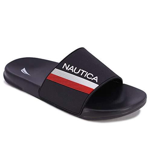 Nautica Men's Athletic Slide Comfort Sandal-Norwood-Black-11