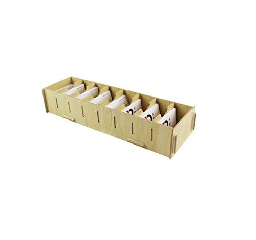 LZK Tarjeta de escritorio de oficina de clasificación del estante del negocio de madera de varios red de caja de la tarjeta de visita creativa del asiento de gran capacidad de almacenamiento de carpet