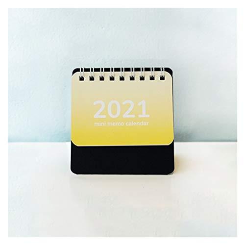 ZNZN Desktop Calendars 2021 Small Desk Calendar Handheld Mini Memo Calendar Foldable Coil Calendar Year Calendar Best Desk Calendar 3.3x2.4in Calendars (Color : Pink)