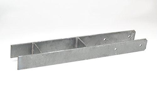 H-Pfostenanker 91 x 600 mm für 9 cm Pfosten, H-Anker schwer, Pfostenträger, Pfostenanker feuerverzinkt, Bodenhülse