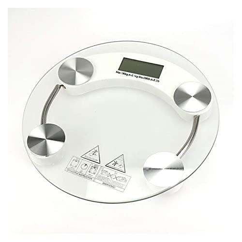 Báscula de pesaje Escala de peso Cancha de vidrio templado Baño electrónico Salud de salud humana Pulseras/KG Escala electrónica de escala de peso superior duradera WDH666